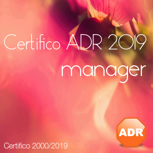 Certifico ADR 2019 Manager | Ottobre 2018